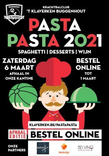 PastaPasta 2021 Eetfestijn 't Klaverken Buggenhout krachtbal affiche